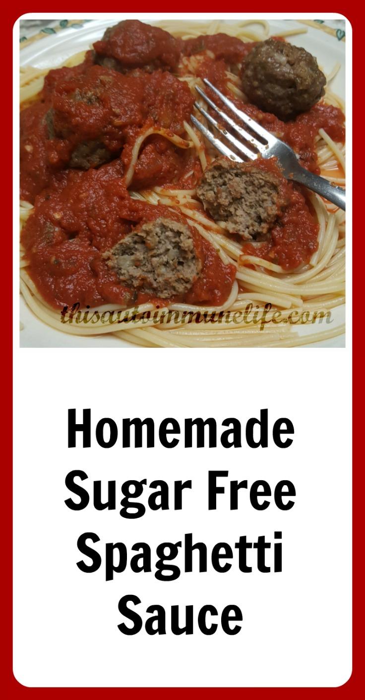 Homemade Sugar Free Spaghetti Sauce