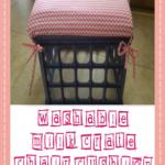 Washable Milk Crate Chair Cushion