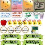 August Planner Stickers