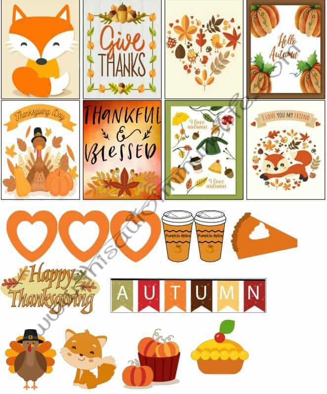 November 2017 Planner Stickers