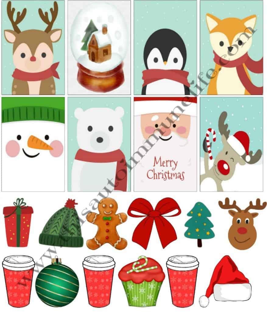 December 2017 Planner Stickers