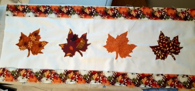Fall Table Runner from www.thisautoimmunelife.com #fall #tablerunner #applique #quilting