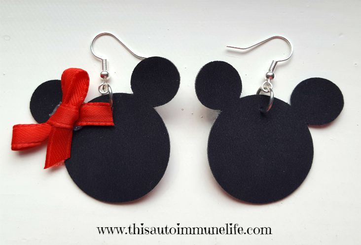 Mickey Mouse Disney Earrings from www.thisautoimmunelife.com #Disney #MickeyMouse #MinnieMouse #DisneyEarrings