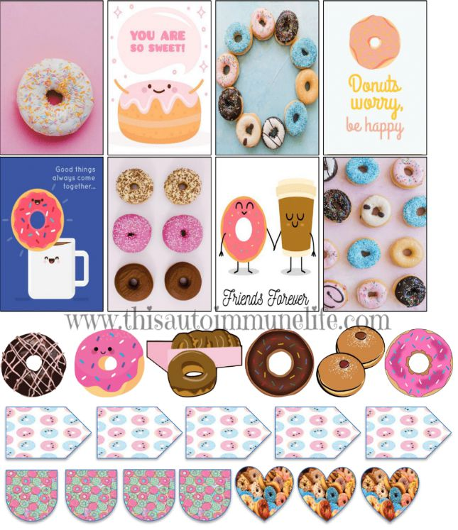 National Doughnut Day Stickers from www.thisautoimmunelife.com #nationaldoughnutday #free #stickers