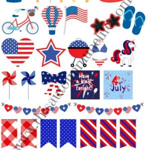 Patriotic Stickers 2019 from www.thisautoimmunelife.com #4thofJuly #patriotic #stickers