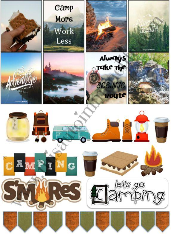 August 2019 Planner Stickers #free #stickers #planner #ErinCondren #Happy