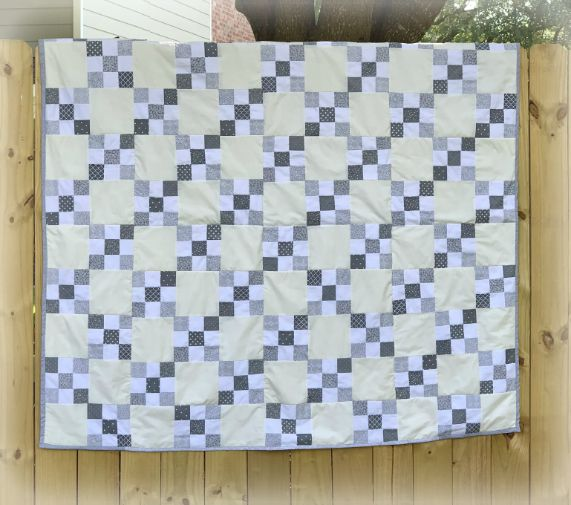 Irish Chain Quilt from www.thisautoimmunelife.com #pinterestchallenge #irishchain #quilting