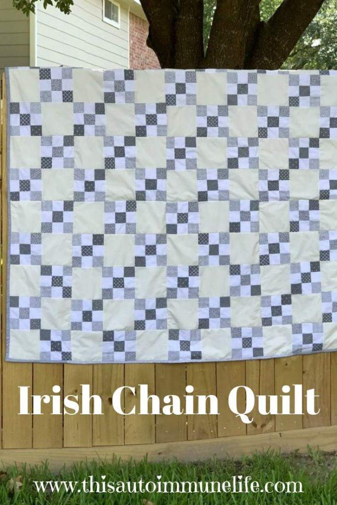 Irish Chain Quilt from www.thisautoimmunelife.com #pinterestchallenge #irishchain #quilt