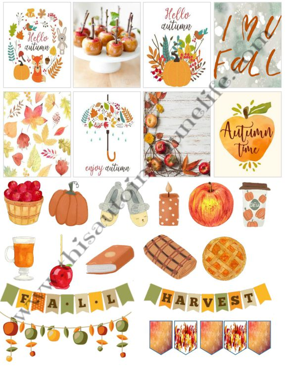 September 2019 Planner Stickers from www.thisautoimmunelife.com #plannerstickers #free #September #fall #HappyPlanner #ECLifePlanner
