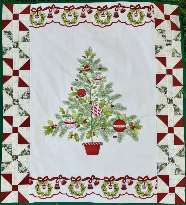 Quilted Christmas Tree from www.thisautoimmunelife.com #12DaysofChristmasIdeas #quiltedChristmastree #quilting #Christmas
