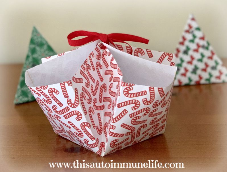 How to Make a Scrap Paper Basket from www.thisautoimmunelife.com #paperbasket #DIY