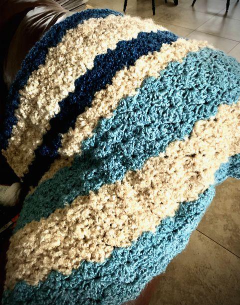 Crocheted Farmhouse Throw from www.thisautoimmunelife.com #crochet #farmhouse #throw