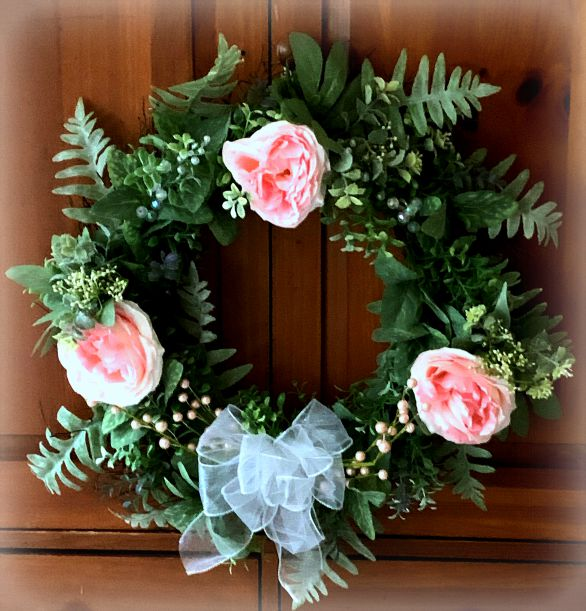 Spring Peony Floral Wreath from www.thisautoimmunelife.com #pinterestchallenge #spring #peony #floralwreath #DIY